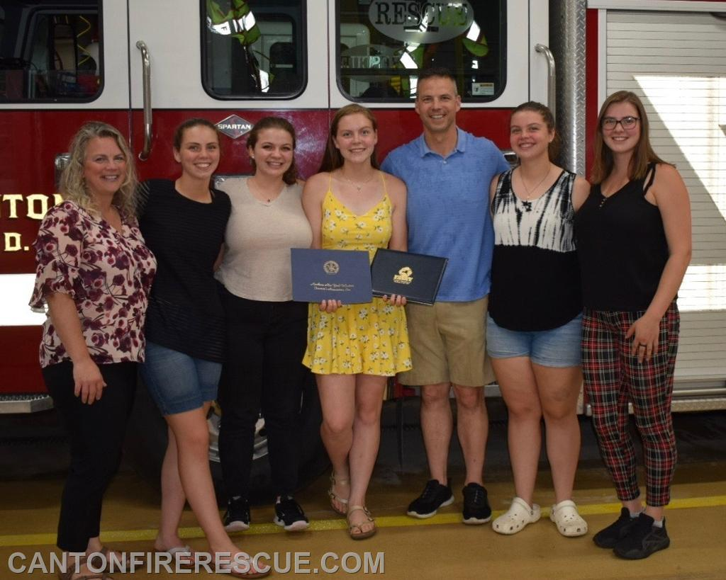 FF Brooke Larrabee with her family.